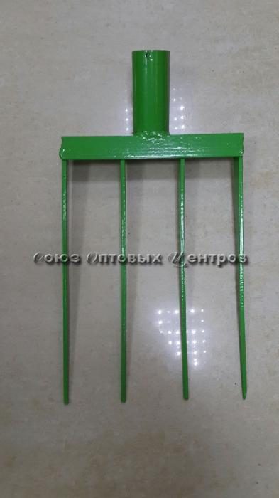 вилы садовл-огородные 4-х зубые сварные из полосы (200*285) №52