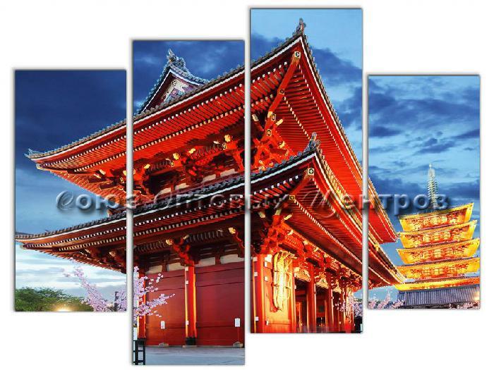 Картина модульная на холсте 95х120 Япония